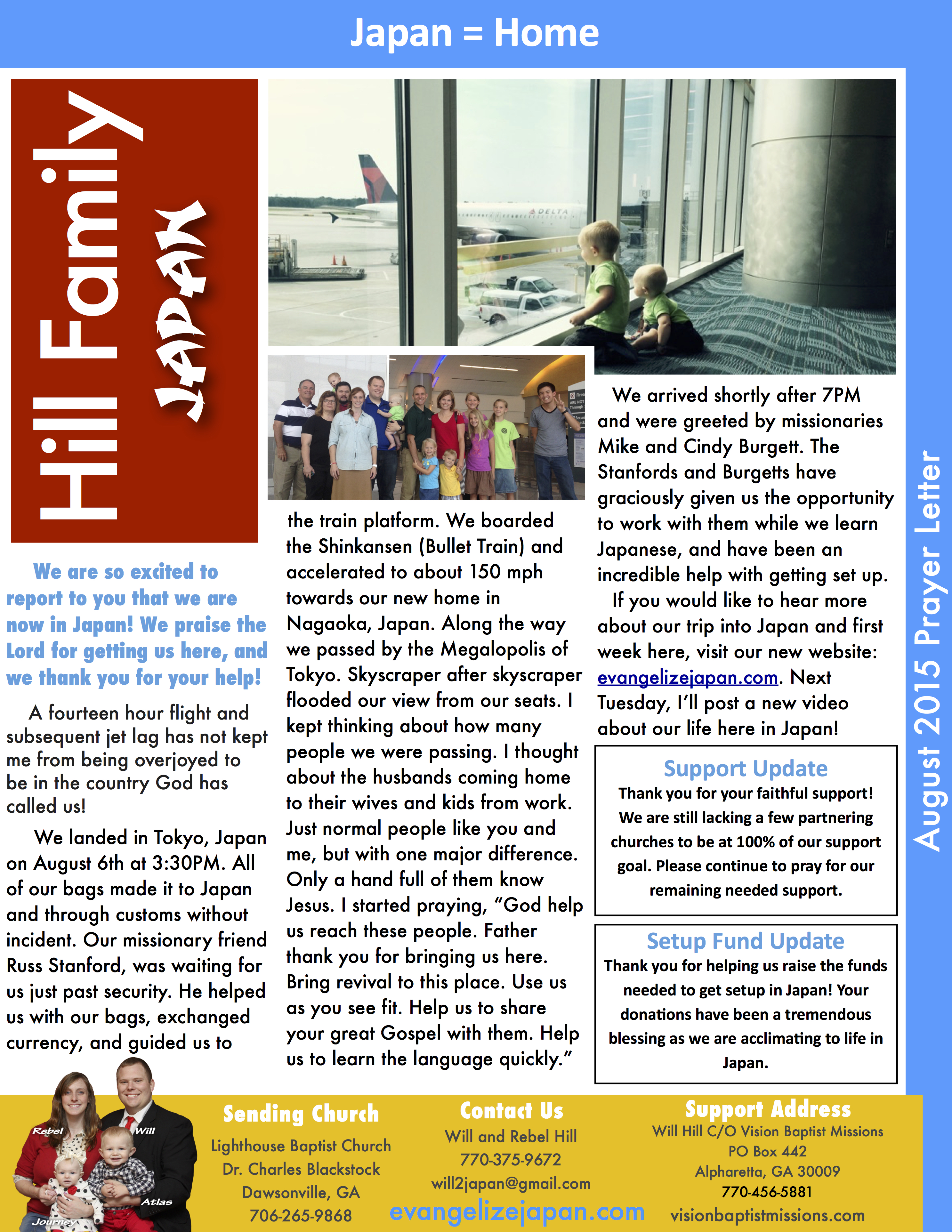 Rising son mission 2015 august view high resolution prayer letter by clicking here expocarfo Image collections