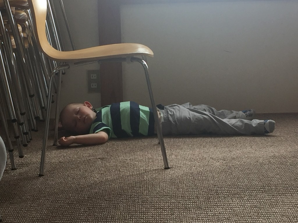 Passed out after church